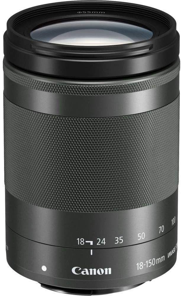 Canon EF-M 18-150mm f3.5-6.3 IS STM Reiseobjektiv (optischer Bildstabilisator, 300g Gewicht)