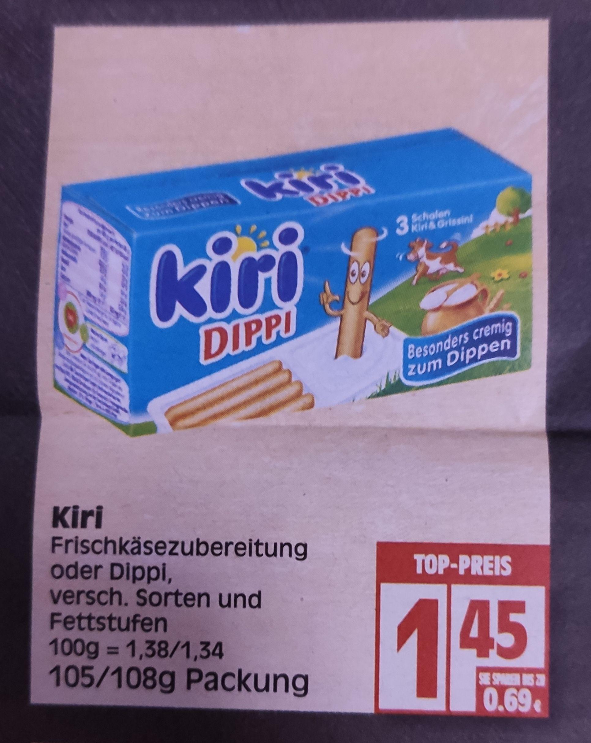 [Edeka Minden-Hannover] Kiri Dippi mit Coupon für 0,95€ oder mit Scoondo und Reebate Cashback für effektiv 0,16€
