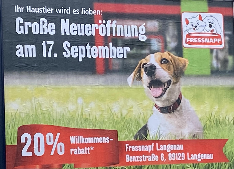 (-Lokal-Langenau) 20% bei Fressnapf nach Wiedereröffnung
