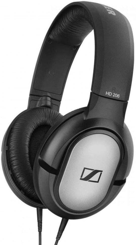 Sennheiser HD 206 Stereo Kopfhörer, silber [Amazon Prime]