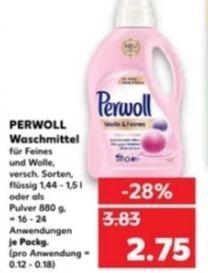 [Kaufland Do-Mi] 4x Perwoll Waschmittel mit Coupon für 7€