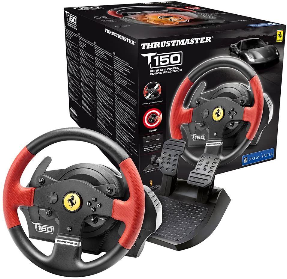 THRUSTMASTER T150 Ferrari Edition (Lenkrad inkl. 2-Pedalset, PS4 / PS3 / PC) [Saturn & Mediamarkt & Amazon]