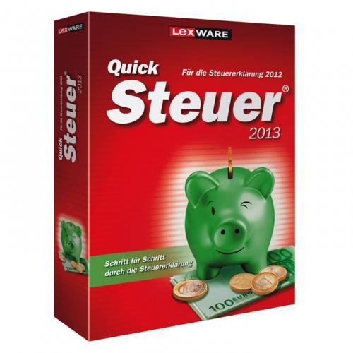 Lexware QUICKSTEUER 2013 (für die Steuererklärung 2012) BOX für 8,88€ @ ebay wow