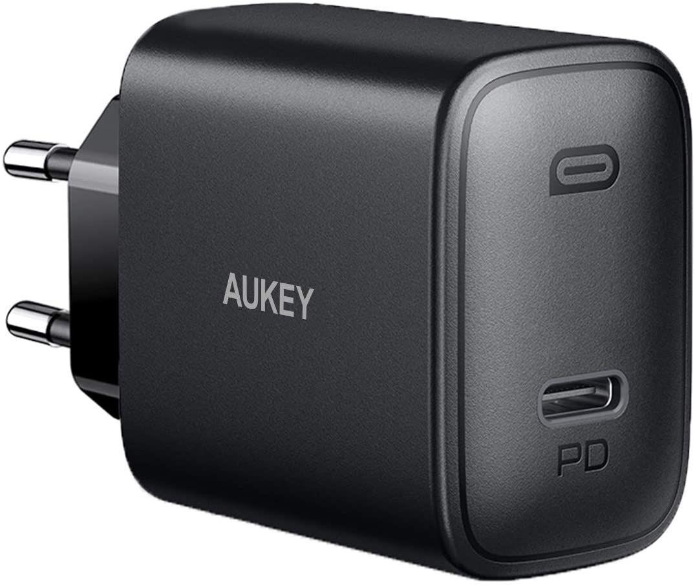 AUKEY 18W USB C Ladegerät Mit Power Delivery 3.0, Schnellladegerät USB C Netzteil [Amazon Prime]