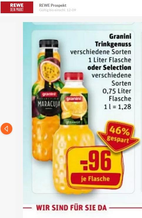 [REWE + PENNY] Granini Trinkgenuss oder Selection 0,56€ durch Cashback