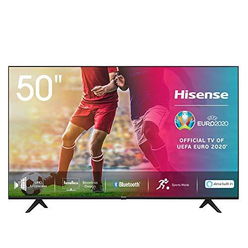 Hisense 50AE7000F, 50 Zoll Fernseher (4K Ultra HD, HDR, Triple Tuner Smart-TV, Frameless, Bluetooth, Alexa) [Modelljahr 2020]