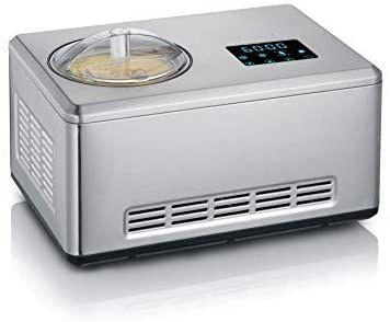 Severin 2-in-1 Eismaschine mit Joghurtfunktion, Inkl. Eisbehälter (2L) und Rezeptbuch, Digitaler Timer, Deckelöffnung, EZ 7405 [Amazon]