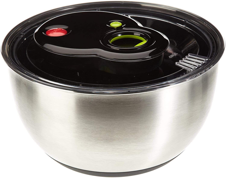 Emsa 2in1 Edelstahl Salatschleuder, Turboknopf, 4,5 Liter [Amazon Prime]
