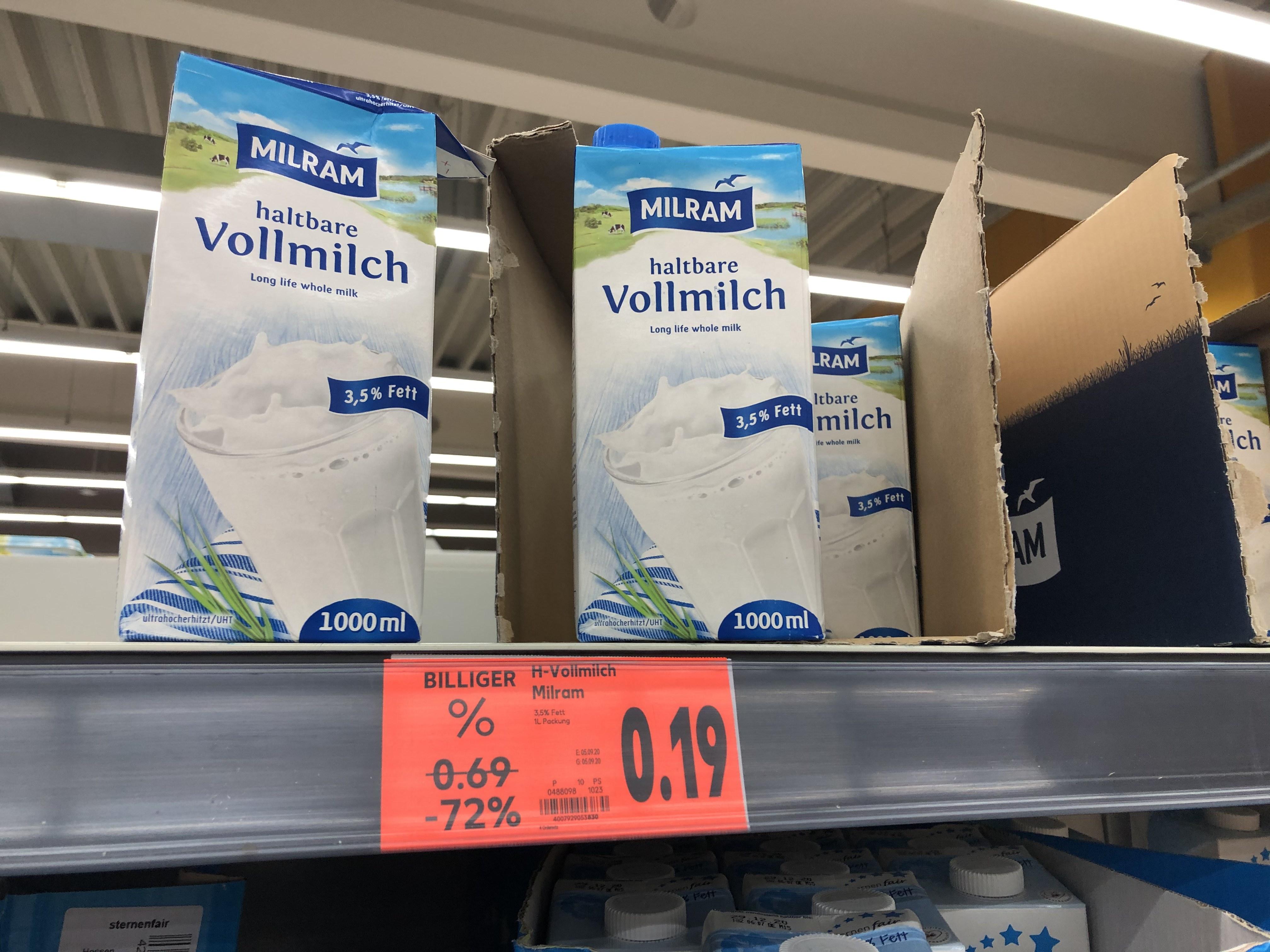 Lokal Kaufland Linden - Rest Milch Packungen