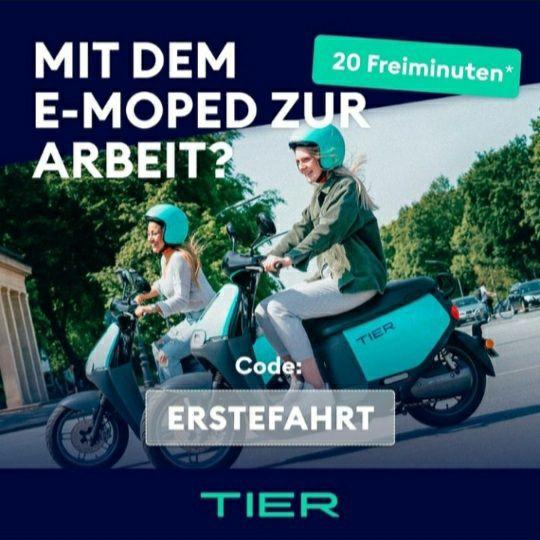 Tier Mobility e-Moped - 20 Freiminuten [Neukunden]