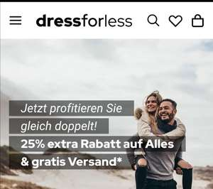 25% Extra + Versandkostenfrei bei Dress for less