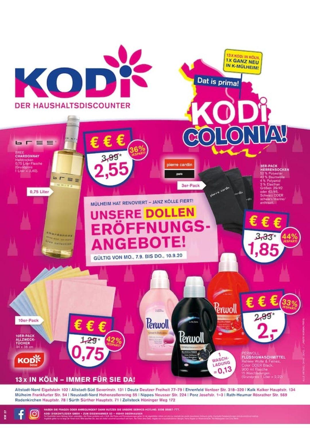 [Lokal Köln] KODi Colonia Angebot PERWOLL FLÜSSIGWASCHMITTEL 900 ML/15WL