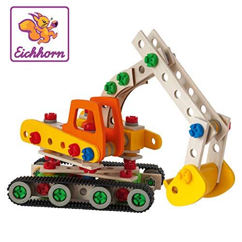 Eichhorn Constructor Raupenbagger,Holzspielzeug,170 Bauteile, 4 verschiedene Konstruktionen für 23,85€ (Amazon Prime & Saturn & Media Markt)