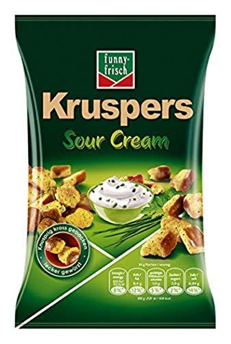 funny-frisch Kruspers Sour Cream, 10er Pack (10 x 120 g) Vorbestellung (Prime)