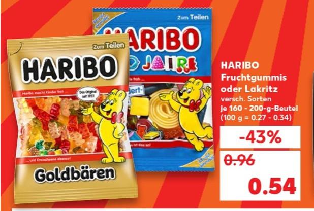 Kaufland - Haribo dür 0,54 Euro / BARILLA Teigwaren 0,68 Euro / ORIGINAL WAGNER Die Backfrische oder Big City Pizza 1,75 Euro