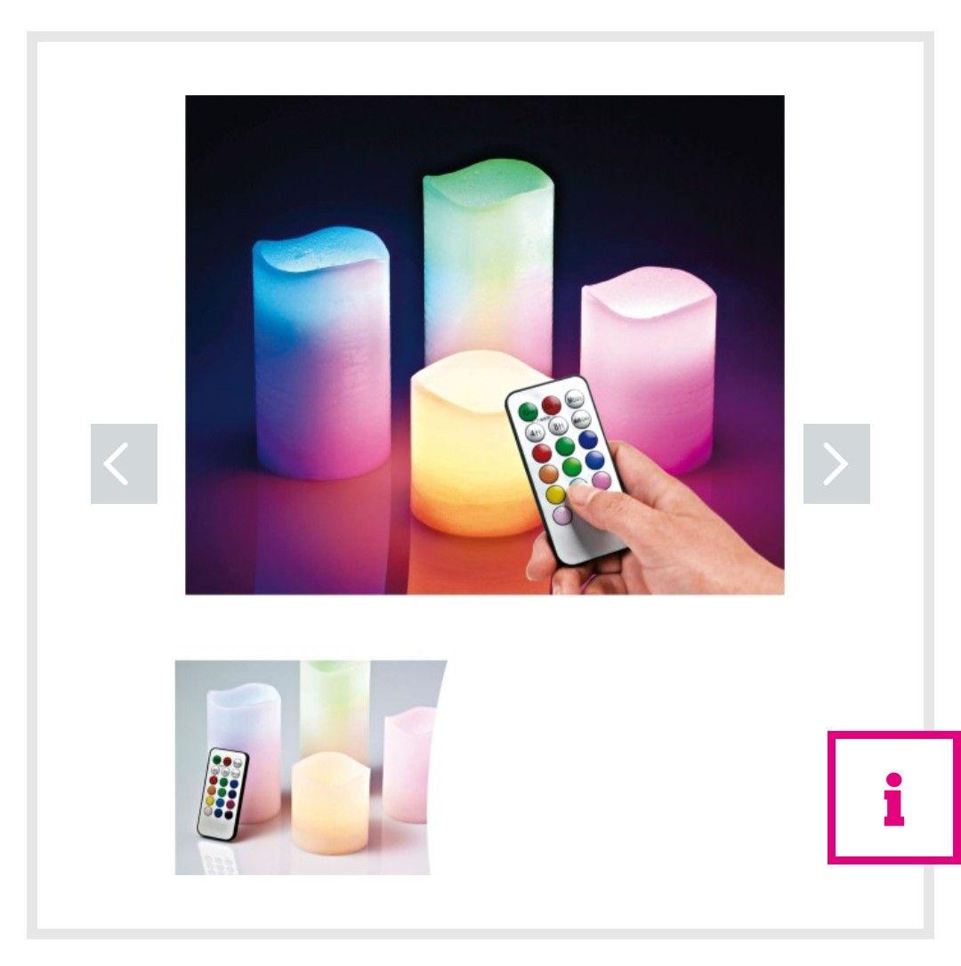 Farbige Led - Kerzen mit Fernbedienung