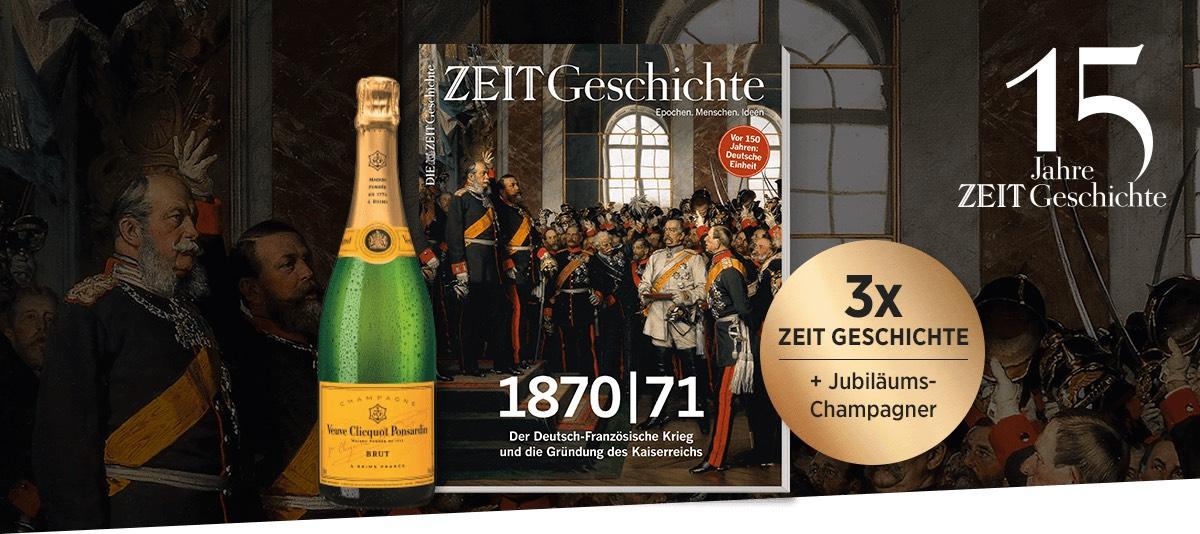 Zeit Geschichte + Champagner von Veuve Clicquot Ponsardin