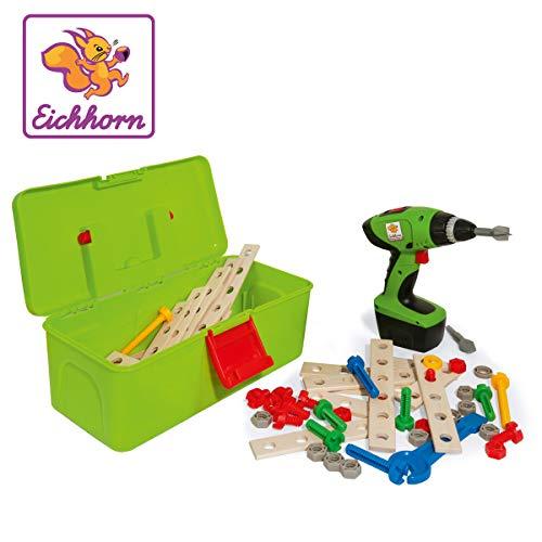 Eichhorn Constructor Werkzeugbox, inkl. kompakt Schrauber, Erweiterungsteile, 70 teilig für 16,82€ (Amazon Prime)