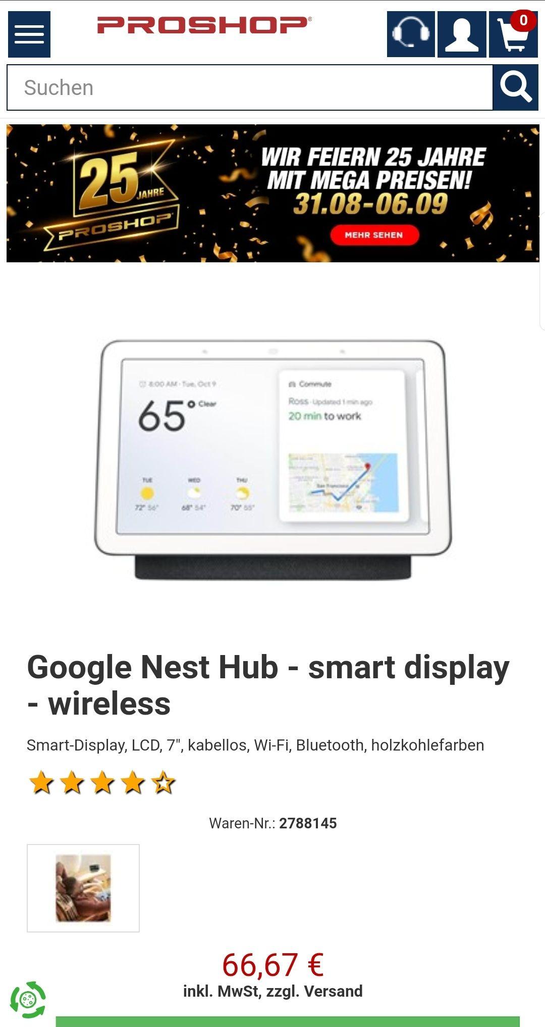 [Proshop] Google Nest Hub - dunkle Version