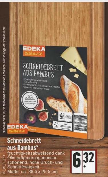 [EDEKA Rhein Ruhr] Bambus Schneidebrett 38,5x25,5 cm