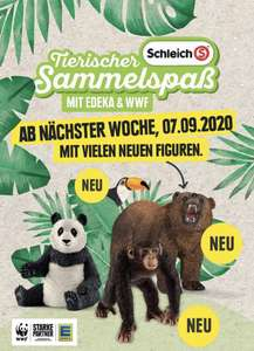 Edeka Schleich Aktion 2020 - je 10€ Einkaufswert gibt es 2 Schleich-Treuepunkte - sehr gute Schnapper dabei