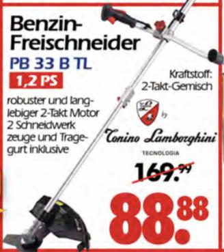 (Wreesmann Pirna) Tonino Lamborghini Benzin Freischneider Trimmer PB 33SB TL