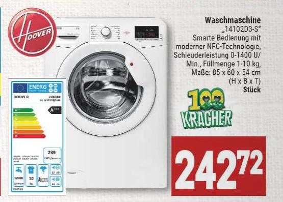 Waschmaschine Hoover 14102D3-S bei Marktkauf Hannover-Minden