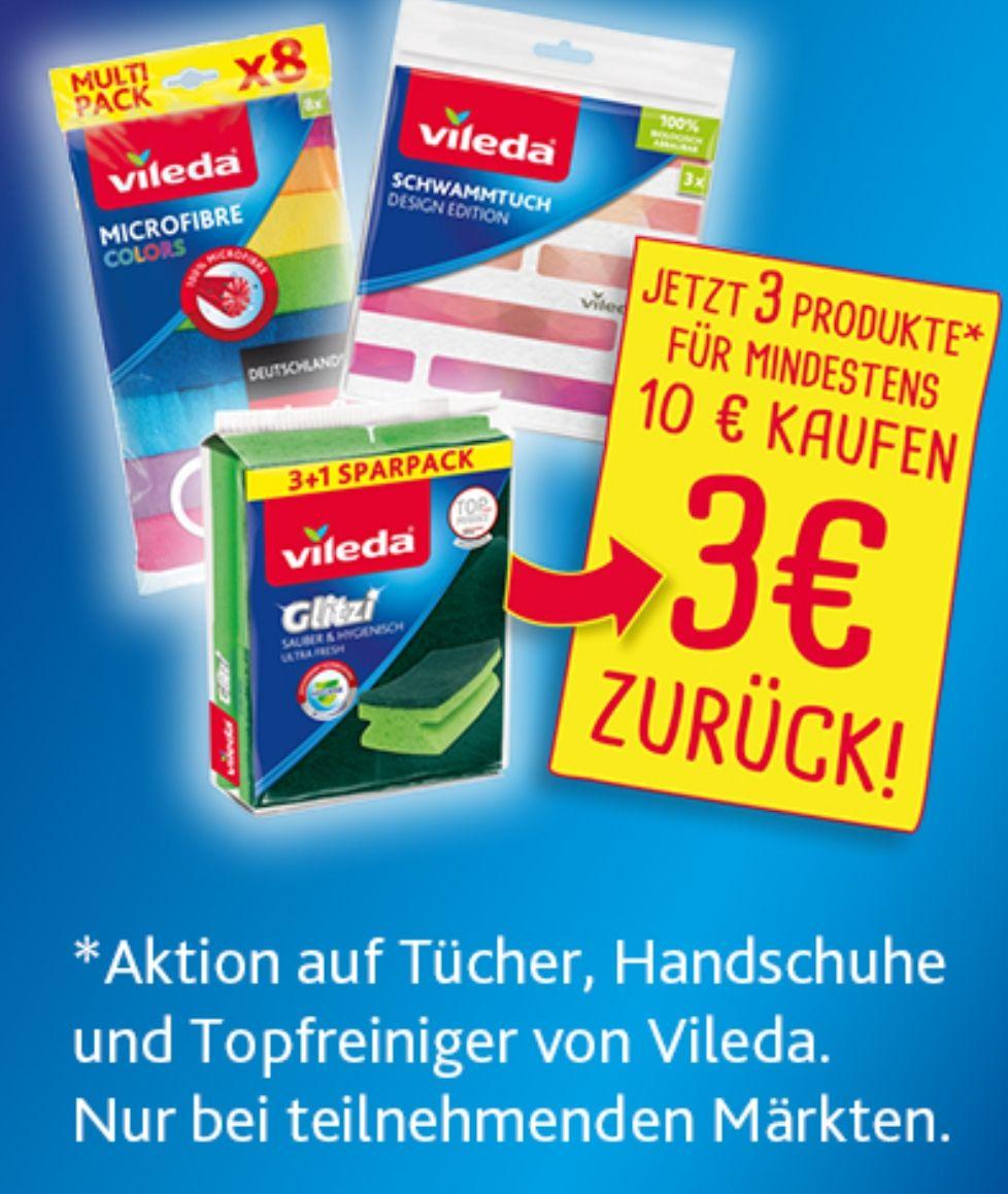 [Vileda] 3€ Cashback bei MEW von 10€, Tücher, Handschuhe, Topfreiniger