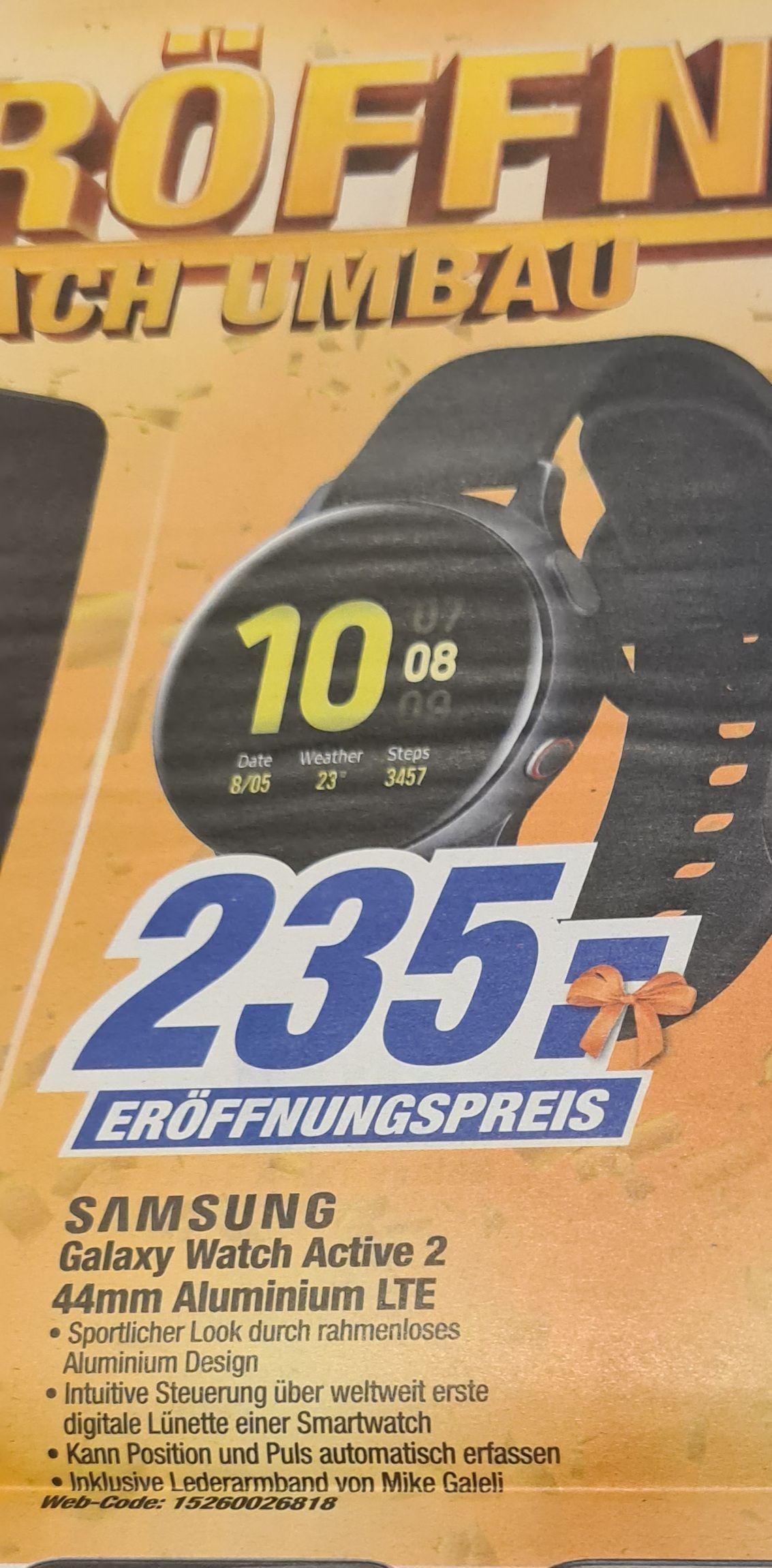Samsung Galaxy Watch Active 2 LTE 44mm Aluminium [Lokal Expert Region Hannover + Stadthagen + Rinteln]