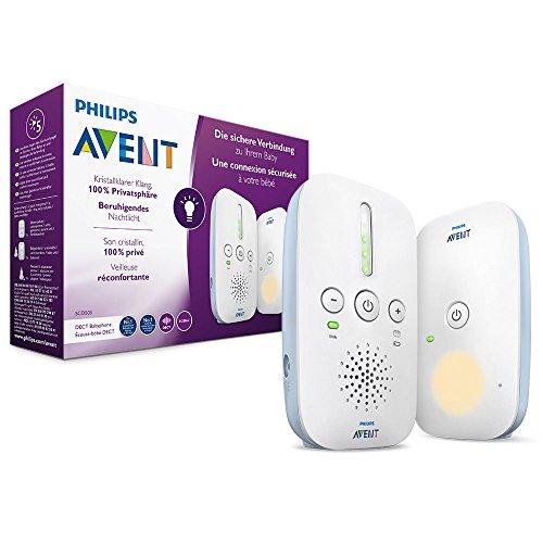 Philips Avent Audio-Babyphone SCD503/26, DECT-Technologie, Eco-Mode, 24 Std. Laufzeit, Nachtlicht für 37,49€ (Amazon)
