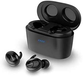 Philips In Ears Kopfhörer SHB2515WT/10 Kopfhörer In Ear (Bluetooth, Integriertes Mikrofon, Hohe Akkulaufzeit, Geräuschunterdrückung [Amazon]
