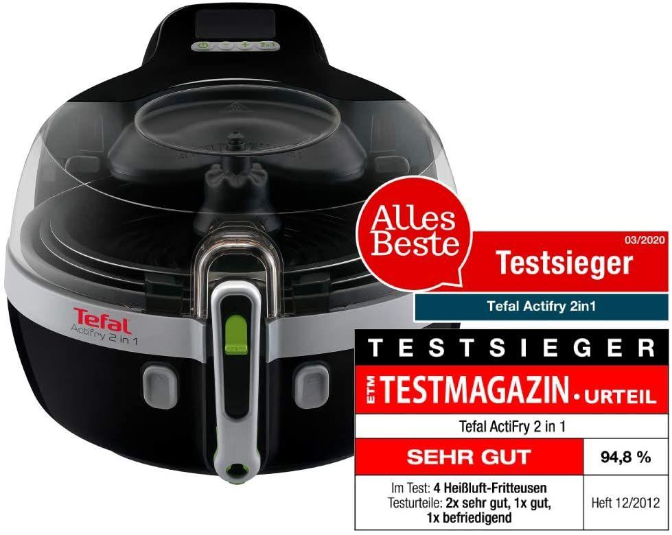 Tefal YV9601 ActiFry 2in1 Heißluft-Fritteuse, 1400 Watt, 1,5 kg Fassungsvermögen, schwarz/silber [Amazon]