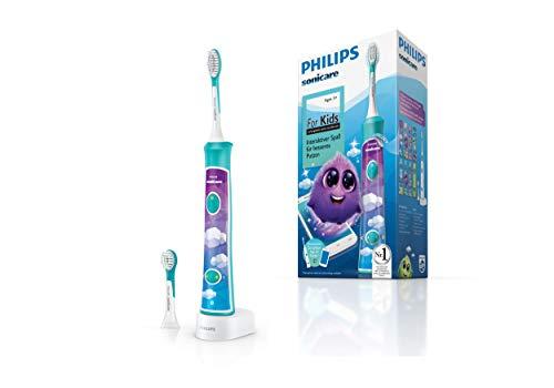 Philips Sonicare For Kids Elektrische Zahnbürste HX6322/04, mit Schalltechnologie, für Kinder,sanfte Reinigung (Türkis) für 29,99€ (Amazon)