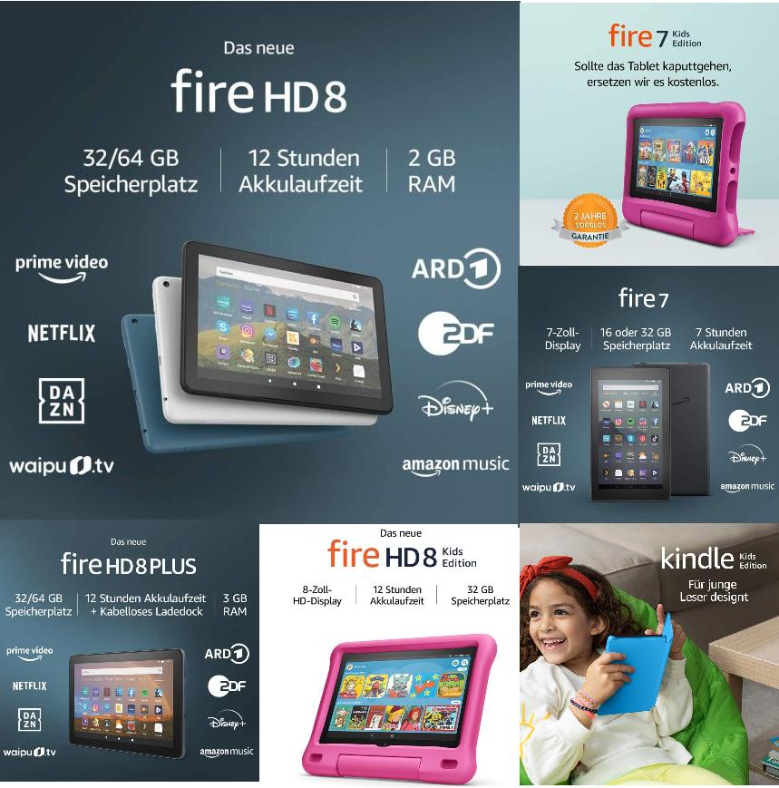 [Amazon / Saturn&MM] Amazon Fire HD 8 2020 - 58,48€ | Fire 7 Kids Edition - 63,35€ | Fire HD 8 Kids Edt - 82,84€ | Kindle Kids Edt - 73,12€