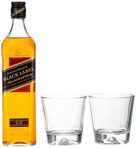 [Prime] Johnnie Walker Black Label Blended Scotch Whisky 12 Jahre 0,7l, mit 2 Gläsern