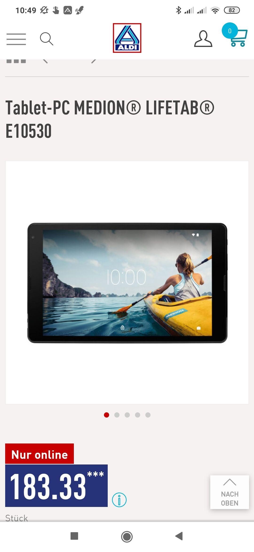 Aldi NordTablet-PC MEDION® LIFETAB® E10530