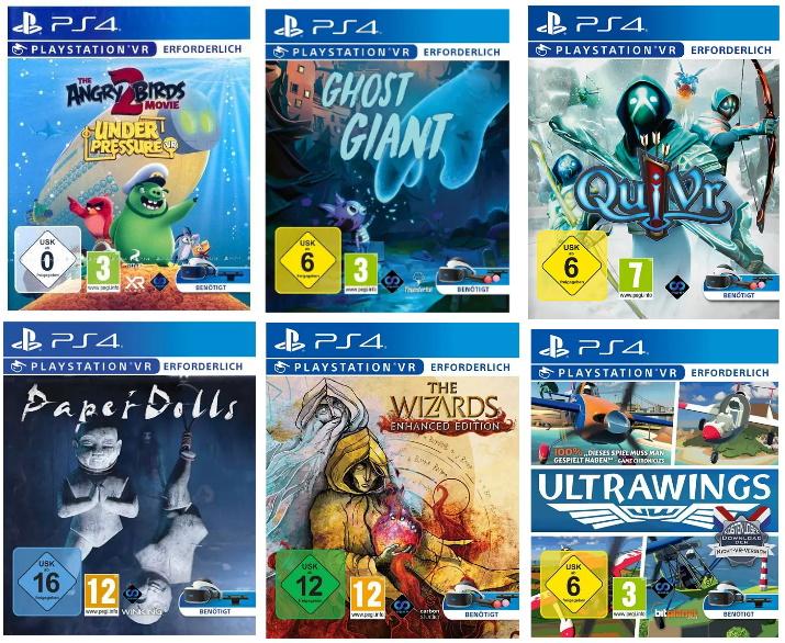 GDD Gaming: Diverse Spiele für 9,74€ bei Markabholung, z.B. verschiedene PSVR-Titel