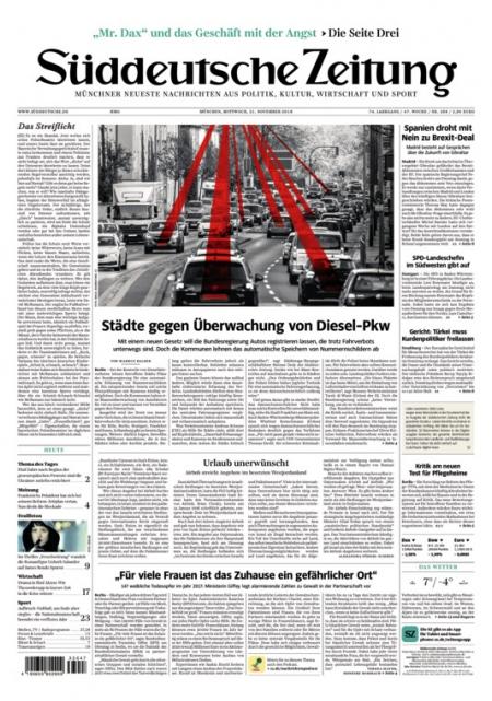 Zeitungsabo für 1 Jahr mit 30% Rabatt: Süddeutsche Zeitung Bundesausgabe (563,68€), SZ Zeitung Fr & Sa (276,38€), SZ Bayern (547,55€)