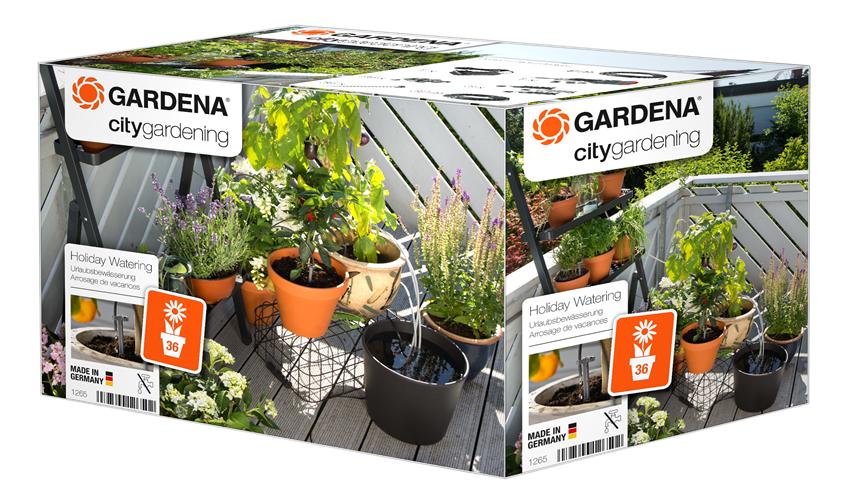 Gardena Holiday Watering Urlaubsbewässerung city gardening Kit 1265