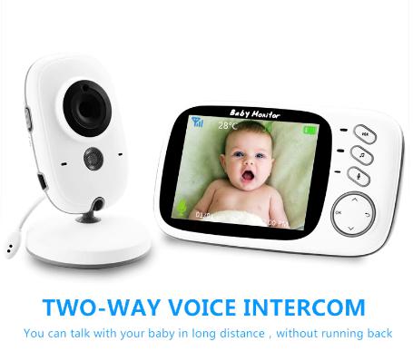 Babyphone VB603 mit Monitor, Nachtsicht, Temperatur, Mikrofon, Musik