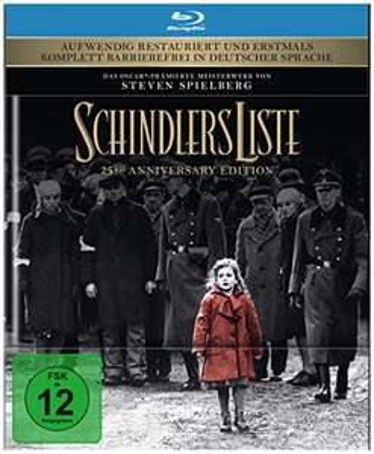 Schindlers Liste 25th Anniversary Mediabook Edition (Blu-ray + Bonus-Disc) für 16,97€ (Amazon Prime)