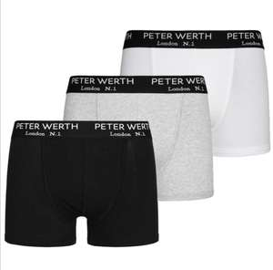 Peter Werth London N.1 Jefferson Herren 3er-Pack Boxershorts, 95 % Baumwolle, 5 % Elasthan