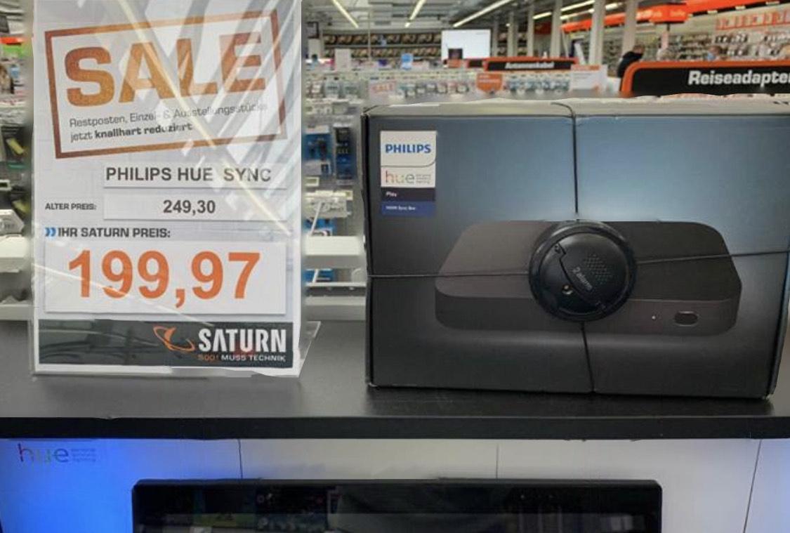 [Lokal] Saturn Hamburg - Philips Hue Sync Box im Sale