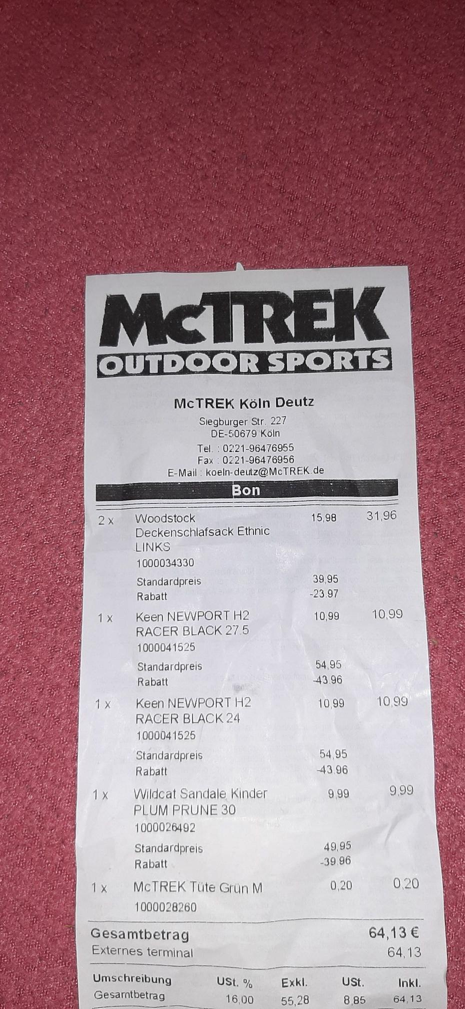 Lokal - McTrek Ausverkauf in Köln-Deutz bis 80%