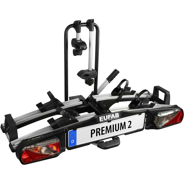 Fahrrad-Kupplungsträger Eufab Premium 2 mit Abklappfunktion