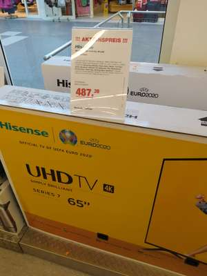 Hisense H65BE7000 165cm 65 Zoll 4K UHD Smart-TV HDR, Dolby Digital Plus, Triple Tuner (Lokal Vellmar Technikpartner)