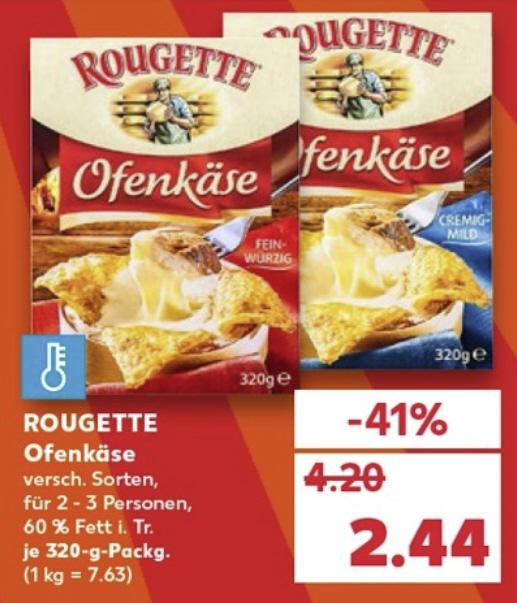[KAUFLAND] Rougette Ofenkäse 320g, versch. Sorten -Bestpreis-