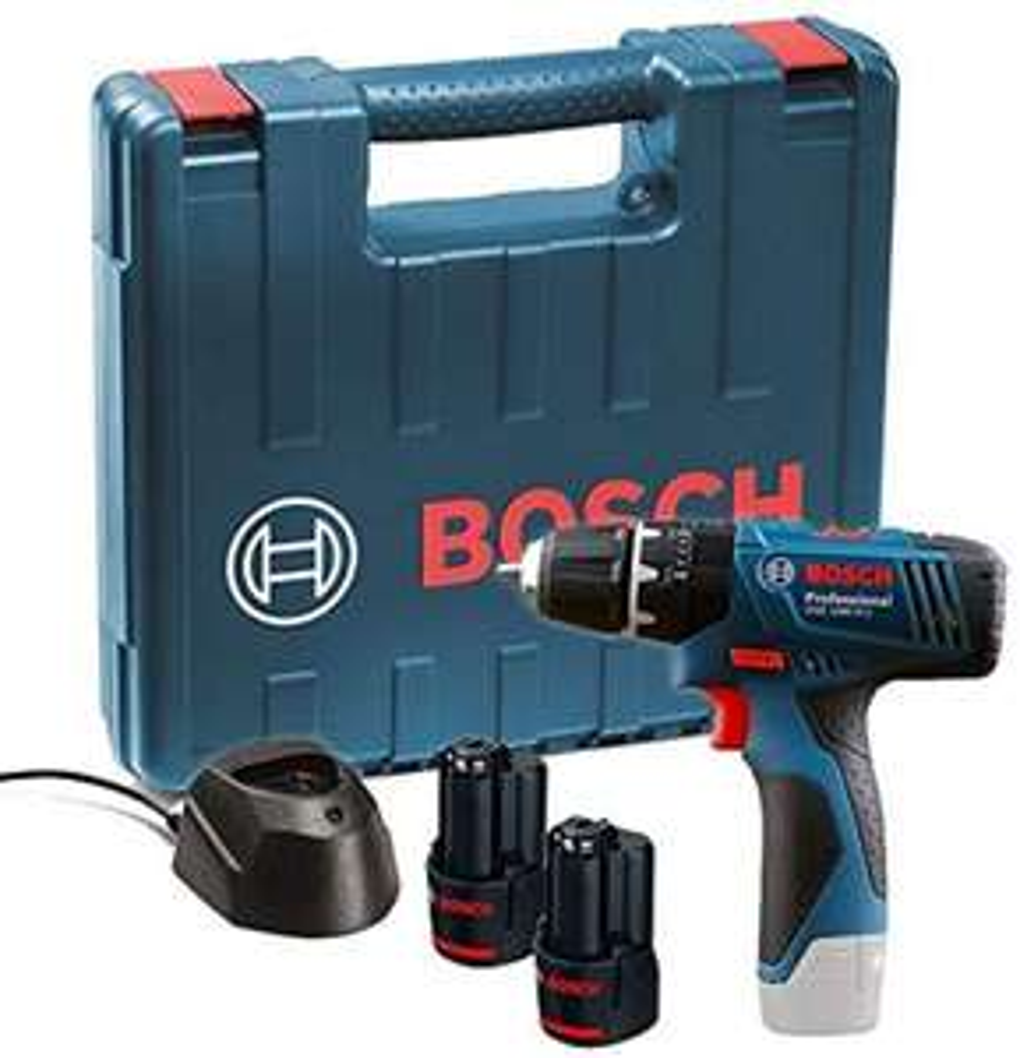 Bosch Professional GSB 120-LI 12 V Akku-Bohrschrauber inkl. 2 x 1,5 Ah Akkus, Ladegerät & Koffer