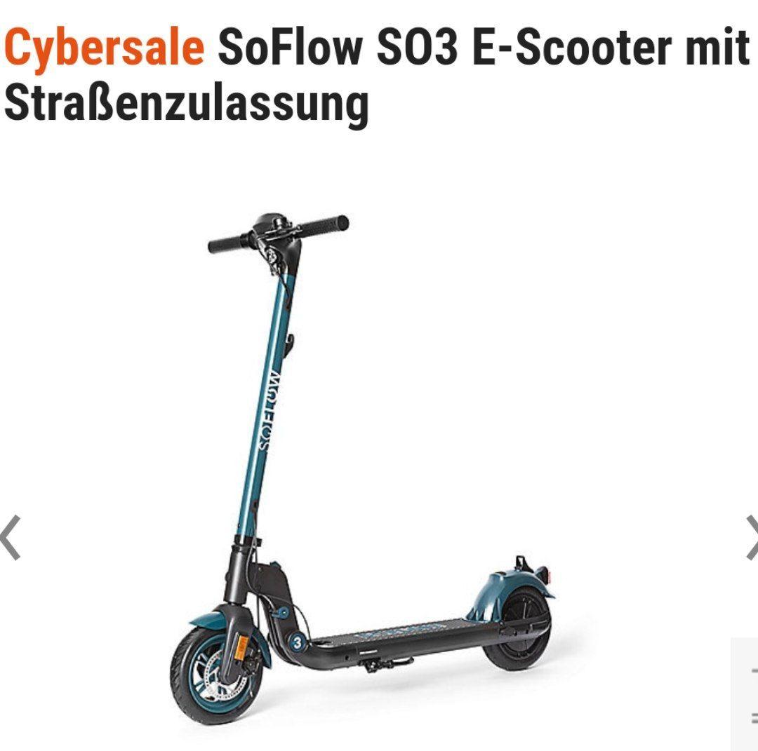 SoFlow SO3 – E-Scooter mit Straßenzulassung und Heckantrieb -klappbar