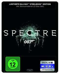 James Bond 007 - Spectre Limited Steelbook Edition (Blu-ray + DVD + UV Copy) für 9,74€ (Media Markt Abholung)